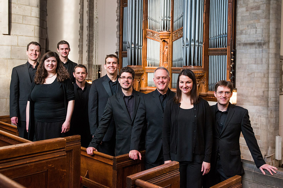 Portrait of early music ensemble Schola Antiqua
